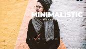 20 پریست رنگی لایت روم حرفه ای تم مینیمالیست Minimalistic Lightroom Preset