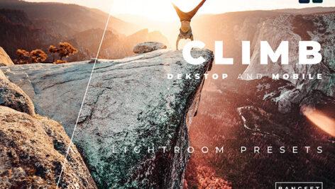 20 پریست رنگی لایت روم حرفه ای عکس فضای باز Climb Lightroom Preset