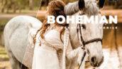 20 پریست رنگی لایت روم حرفه ای عکس پرتره Bohemian Lightroom Preset