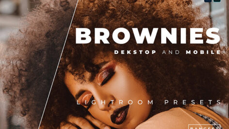 20 پریست رنگی لایت روم حرفه ای عکس پرتره Brownies Lightroom Preset
