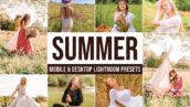 20 پریست لایت روم حرفه ای تابستان Summer Lightroom Presets