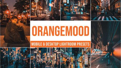 20 پریست لایت روم حرفه ای تم نارنجی Orange Mood Lightroom Presets
