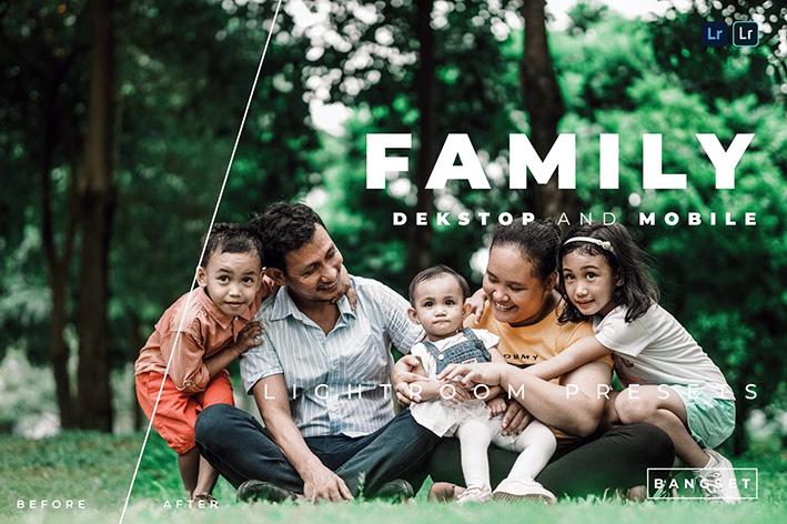 20 پریست لایت روم حرفه ای عکس خانوادگی Family Lightroom Preset