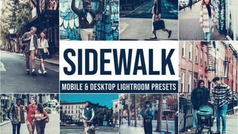 20 پریست لایت روم رنگی حرفه ای تم پیاده رو Sidewalk Lightroom Presets