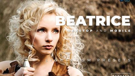 20 پریست لایت روم پرتره سینماتیک دسکتاپ و موبایل Beatrice Lightroom Preset