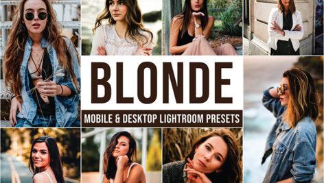 20 پریست پرتره فشن حرفه ای لایت روم Blonde Lightroom Presets