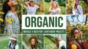 30 پریست رنگی حرفه ای لایت روم تم ارگانیک Organic Lightroom Presets