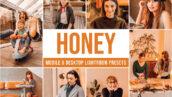 30 پریست رنگی حرفه ای لایت روم تم دختر محبوب Honey Lightroom Presets
