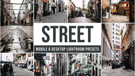 30 پریست رنگی لایت روم تم عکس خیابانی Street Lightroom Presets