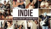 30 پریست لایت روم دسکتاپ و موبایل افکت سینمایی Indie Lightroom Presets