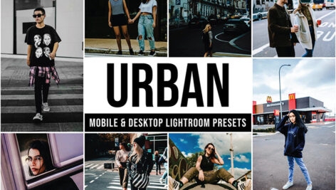 30 پریست لایت روم رنگی حرفه ای جدید Urban Lightroom Presets