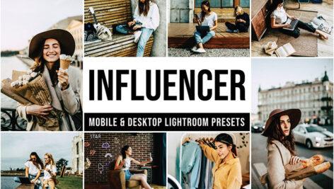 30 پریست لایت روم رنگی عکس اینستاگرام Influencer Lightroom Presets