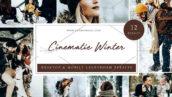 36 پریست سینماتیک زمستانی حرفه ای لایت روم Cinematic Winter Lightroom presets