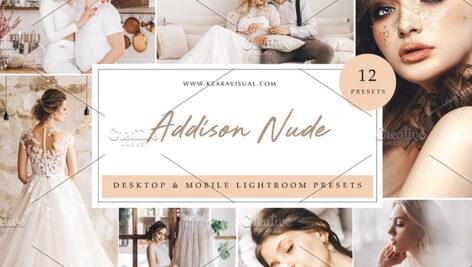 36 پریست لایت روم حرفه ای تم عاشقانه Addison Nude Lightroom Presets