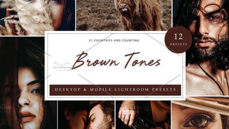 36 پریست لایت روم حرفه ای تم قهوه ای Brown Tones Lightroom Presets