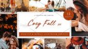 36 پریست لایت روم حرفه ای پاییز تم پائیز آرام Cozy Fall Vol 2 Lightroom Presets