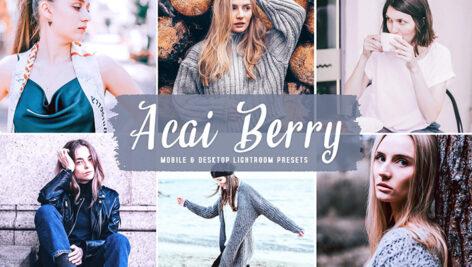 40 پریست لایت روم و پریست کمرا راو و اکشن فتوشاپ Acai Berry Lightroom Presets