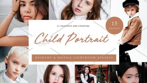45 پریست لایت روم حرفه ای پرتره کودک Child Portrait Lightroom Presets