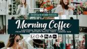 49 پریست لایت روم و کمرا راو و اکشن فتوشاپ و لات رنگی Morning Coffee Lightroom Presets