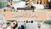 61 پریست لایت روم و کمرا راو و اکشن فتوشاپ و لات رنگی Light and Airy Lightroom Presets