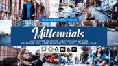 73 پریست لایت روم و کمرا راو و اکشن فتوشاپ و لات رنگی Millennials Lightroom Presets