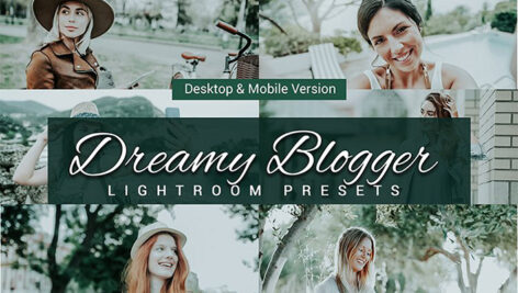 80 پریست لایت روم بلاگر و کمرا راو و اکشن فتوشاپ و لات رنگی Dreamy Blogger Lightroom Presets