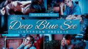 80 پریست لایت روم و کمرا راو و اکشن فتوشاپ و لات رنگی تم آبی دریا Deep Blue Sea Lightroom Presets