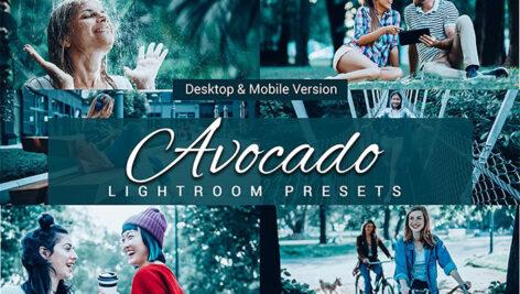 80 پریست لایت روم و کمرا راو و اکشن فتوشاپ و لات رنگی تم آوکادو Avocado Lightroom Presets