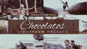 80 پریست لایت روم و کمرا راو و اکشن فتوشاپ و لات رنگی تم شکلاتی Chocolatos Lightroom Presets