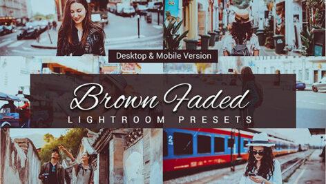 80 پریست لایت روم و کمرا راو و اکشن فتوشاپ و لات رنگی Brown Faded Lightroom Presets