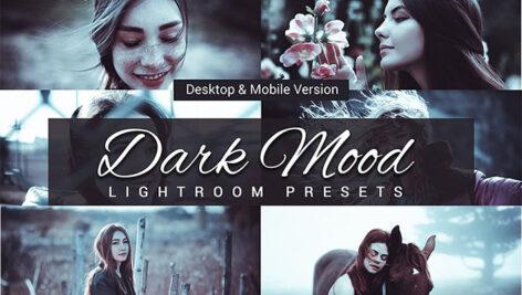 80 پریست لایت روم و کمرا راو و اکشن فتوشاپ و لات رنگی Dark Mood Lightroom Presets