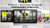 قالب پاورپوینت حرفه ای ورزشی با 38 اسلاید Fitness Center Powerpoint Template