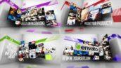 پروژه آماده پریمیر اسلاید شو دیوار ویدیو با موزیک Creative Video Wall Slideshow