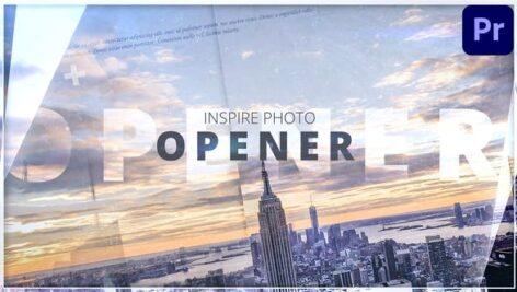 پروژه پریمیر اسلاید شو سینمایی با موزیک Inspire Photo Opener