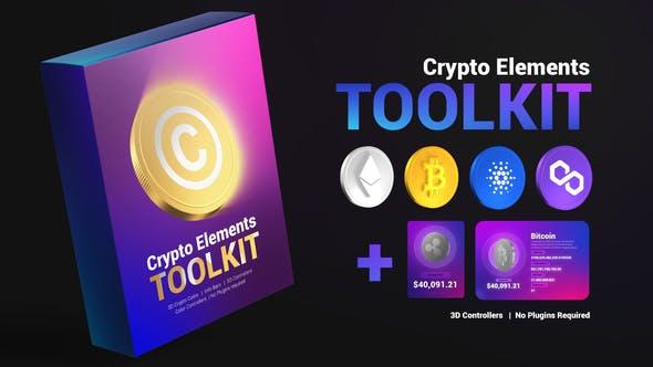 پروژه پریمیر 2021 با موزیک تبلیغات بیت کوین Crypto Elements Toolkit