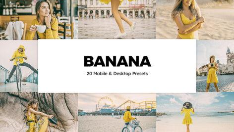 پریست لایت روم و پریست کمرا راو فتوشاپ و لات رنگی تم رنگی موز Banana Lightroom Presets And LUTs