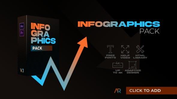 پکیج اینفوگرافیک پروژه پریمیر 2021 حرفه ای Infographics Pack MOGRT