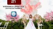 پکیج 21 پریست لایت روم عروسی 2021 حرفه ای Wedding Lifestyle Presets