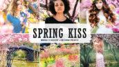 40 پریست لایت روم و پریست کمرا راو و اکشن فتوشاپ تم بوسه بهاری Spring Kiss Lightroom Presets