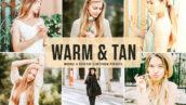 40 پریست لایت روم و پریست کمرا راو و اکشن فتوشاپ Warm Tan Lightroom Presets