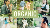 40 پریست لایت روم و کمرا راو و اکشن فتوشاپ Organic Lightroom Presets
