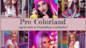 40 پریست لایت روم و کمرا راو و اکشن فتوشاپ Pro Colorland Photo Editing
