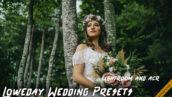 9 پریست لایت روم و کمرا راو عروسی Loweday Wedding LR and ACR Presets