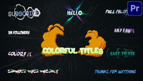تایتل آماده پریمیر رنگی رزولوشن 4K جدید Colorful Titles Premiere Pro MOGRT