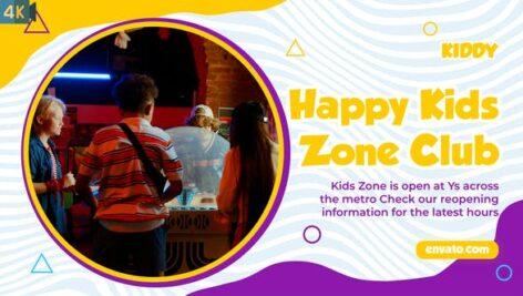 پروژه آماده پریمیر اسلاید شو کودکانه با موزیک Kids Zone Slideshow MOGRT