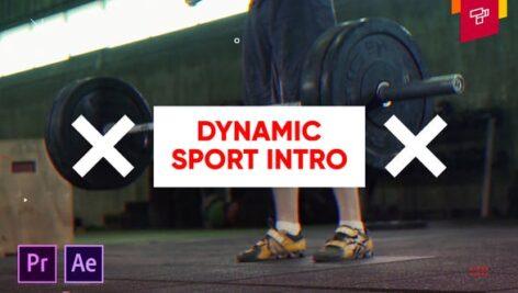 پروژه آماده پریمیر اکشن ورزشی با موزیک Dynamic Sport Intro