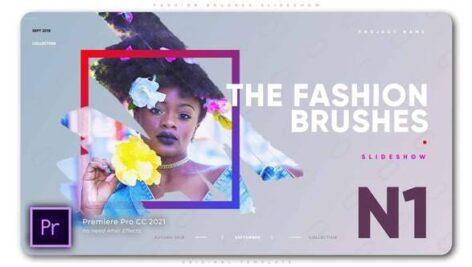 پروژه آماده پریمیر با موزیک افکت براش رنگ Fashion Brushes Slideshow