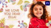 پروژه آماده پریمیر تولد آتلیه کودک با موزیک Happy Birthday Ella