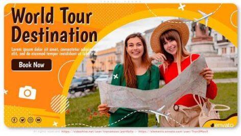پروژه افتر افکت با موزیک تبلیغات تورهای مسافرتی Travel Promo
