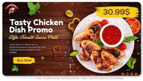 پروژه افتر افکت با موزیک تبلیغات رستوران Tasty Chicken Dish Promo